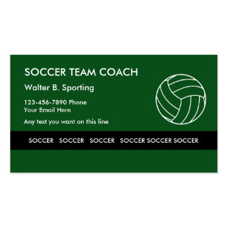 Soccer Team Coach Pack Of Standard Business Cards