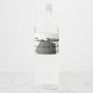 Soccer Team Fundraiser Water Bottle Label