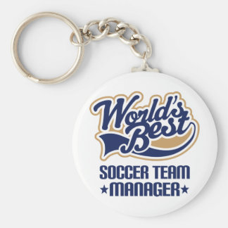 Soccer Team Manager Gift Keychain