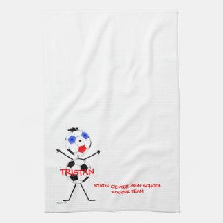 Soccer Team Player Tea Towel
