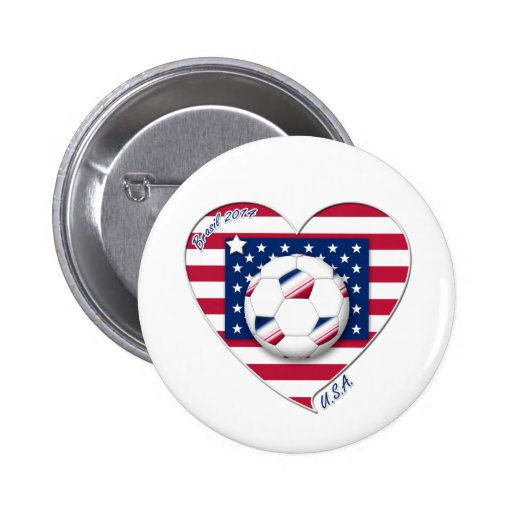 """Soccer Team """"U.S.A."""" Soccer of the United States Pin"""