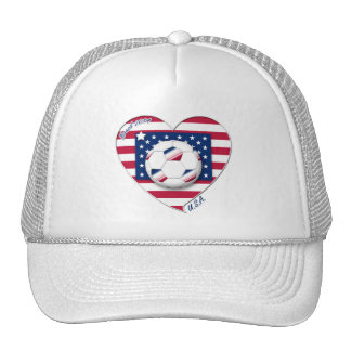 "Soccer Team ""U.S.A."" Soccer of the United States Mesh Hat"