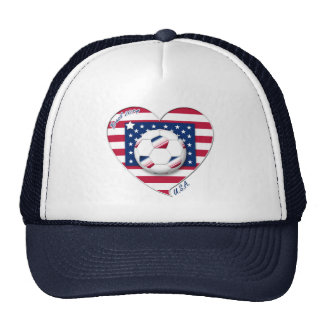 "Soccer Team ""U.S.A."" Soccer of the United States Hats"