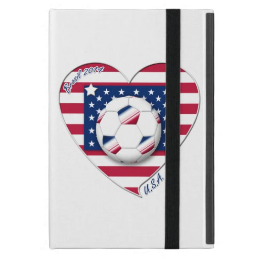 """Soccer Team """"U.S.A."""" Soccer of the United States Covers For iPad Mini"""