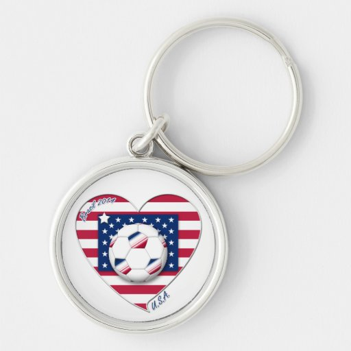 """Soccer Team """"U.S.A."""" Soccer of the United States Key Chain"""
