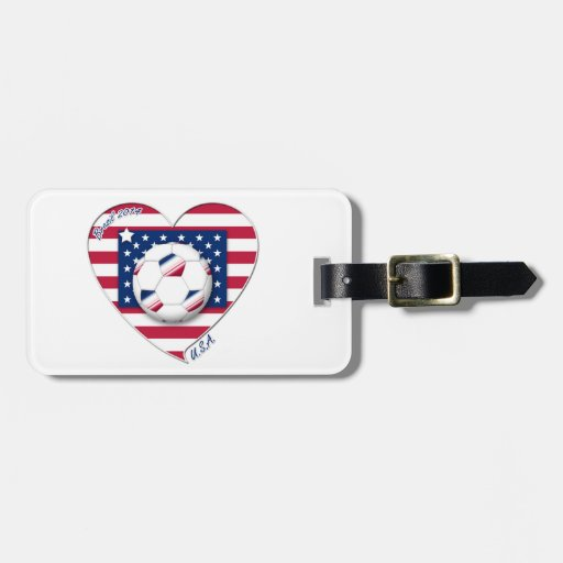 """Soccer Team """"U.S.A."""" Soccer of the United States Bag Tag"""
