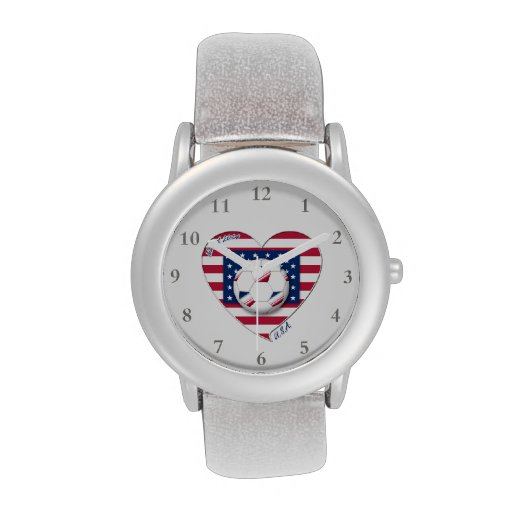 """Soccer Team """"U.S.A."""" Soccer of the United States Wrist Watches"""