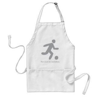 Soccer ....the cure to boredom standard apron