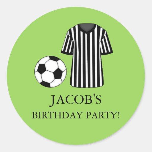Soccer Theme Birthday Party Sticker