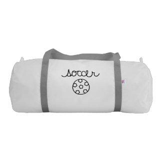 Soccer Theme Gym Duffel Bag