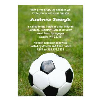 Soccer Themed Bar Mitzvah 13 Cm X 18 Cm Invitation Card