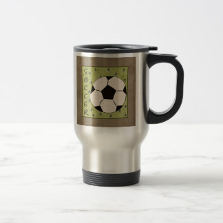 Soccer travel mug