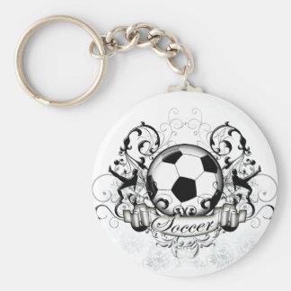 Soccer Tribal Basic Round Button Key Ring