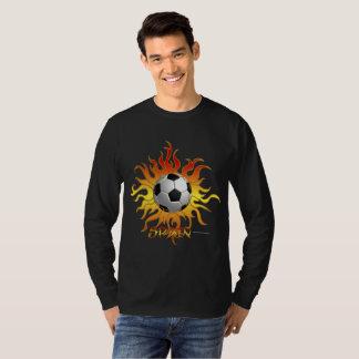 Soccer Tribal Sun Men's Long Sleeve Shirt