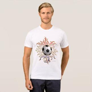 Soccer Tribal Sun Men's Poly-Cotton T-Shirt