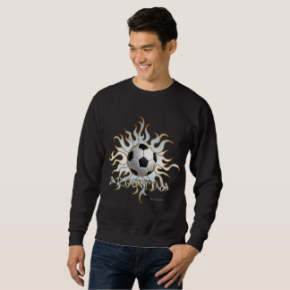 Soccer Tribal Sun Men's Sweatshirt