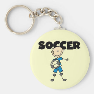 SOCCER Tshirts and Gifts Basic Round Button Key Ring