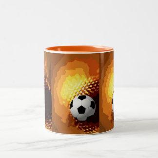 soccer Two-Tone coffee mug