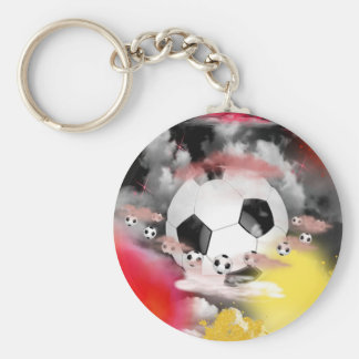 Soccer Universe Graphic Design Basic Round Button Key Ring