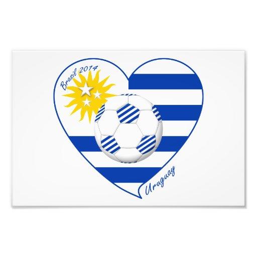 "Soccer ""URUGUAY"". National Uruguayan soccer team Art Photo"