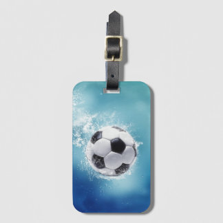 Soccer Water Splash Luggage Tag