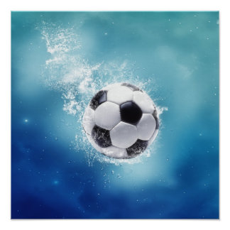 Soccer Water Splash Poster