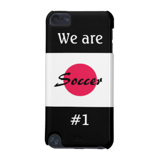 Soccer/We are # 1-Japanese Flag iPod Touch (5th Generation) Case