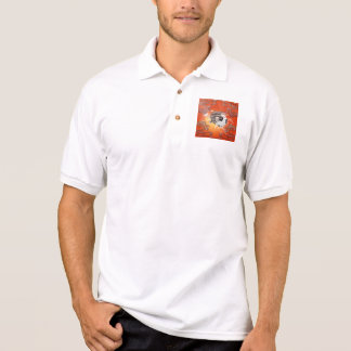 Soccer with skull, fire and water polo shirt