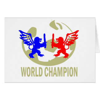 SOCCER WORLD CHAMPION LIONS GREETING CARD