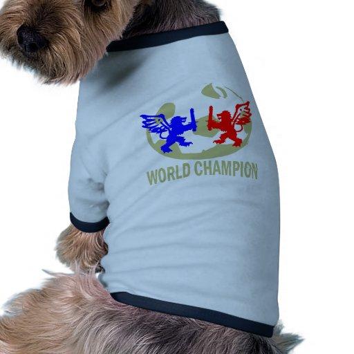 SOCCER WORLD CHAMPION LIONS DOGGIE TSHIRT