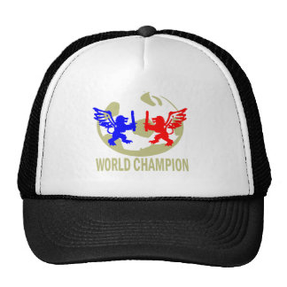SOCCER WORLD CHAMPION LIONS TRUCKER HATS