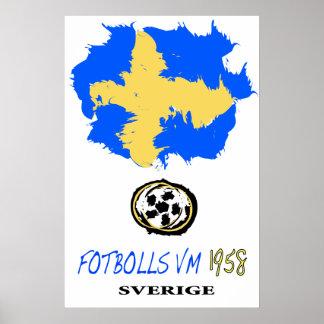 Soccer World Cup Sweden 1958 Poster