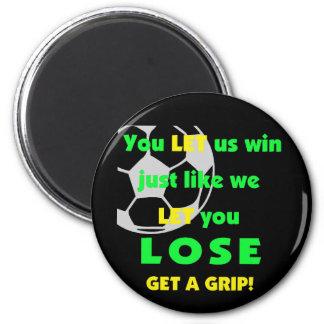 SoccerChick Let Fridge Magnet