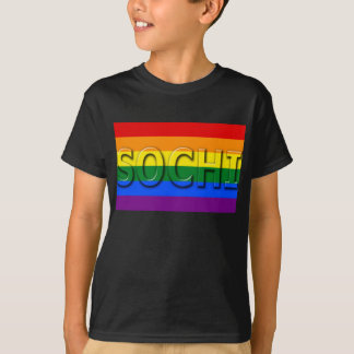 SOCHI Gay Pride Flag T-Shirt