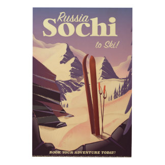 Sochi Russia Ski travel poster