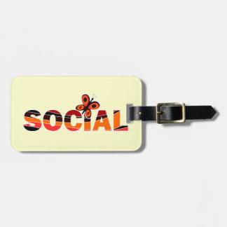 Social butterfly bag tag