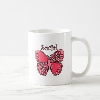 Social Butterfly Basic White Mug