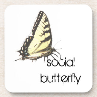 Social Butterfly Beverage Coaster