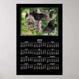 Social Butterfly calendar ~ print