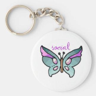 social butterfly key chain