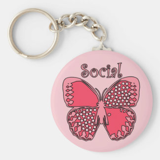 Social Butterfly Key Chains
