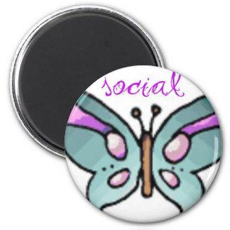 social butterfly refrigerator magnets