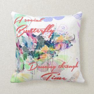 Social Butterfly pillow Cushions