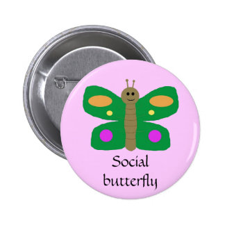 Social Butterfly pin