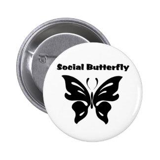 Social Butterfly Pinback Button