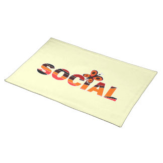 Social butterfly placemats