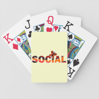 Social butterfly deck of cards