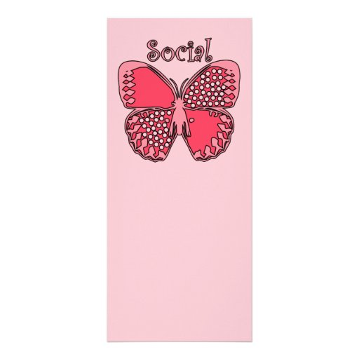 Social Butterfly Customized Rack Card