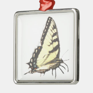 Social Butterfly Silver-Colored Square Decoration