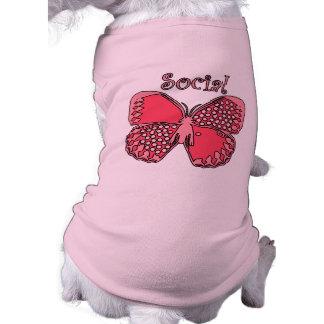 Social Butterfly Sleeveless Dog Shirt